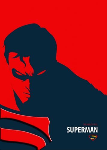 2010's Movie - SUPERMAN - MAN OF STEEL MINIMALIST canvas print - self adhesive poster - photo print